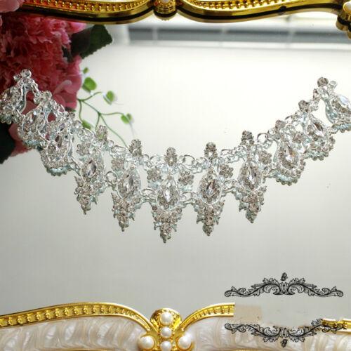 Crystal Bridal Applique Dance Jewel Diamante Rhinestone Motif Sew on Chic Luxury
