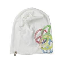 (M64) Leichte FREAKY HEADS Mütze rolling Jersey Beanie mit Peace und Logo Druck