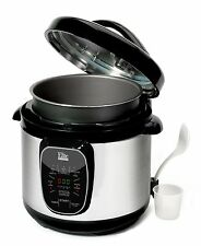 Elite Programmable Electric Pressure Cooker Pot 8-qt. Stainless Steel EPC807