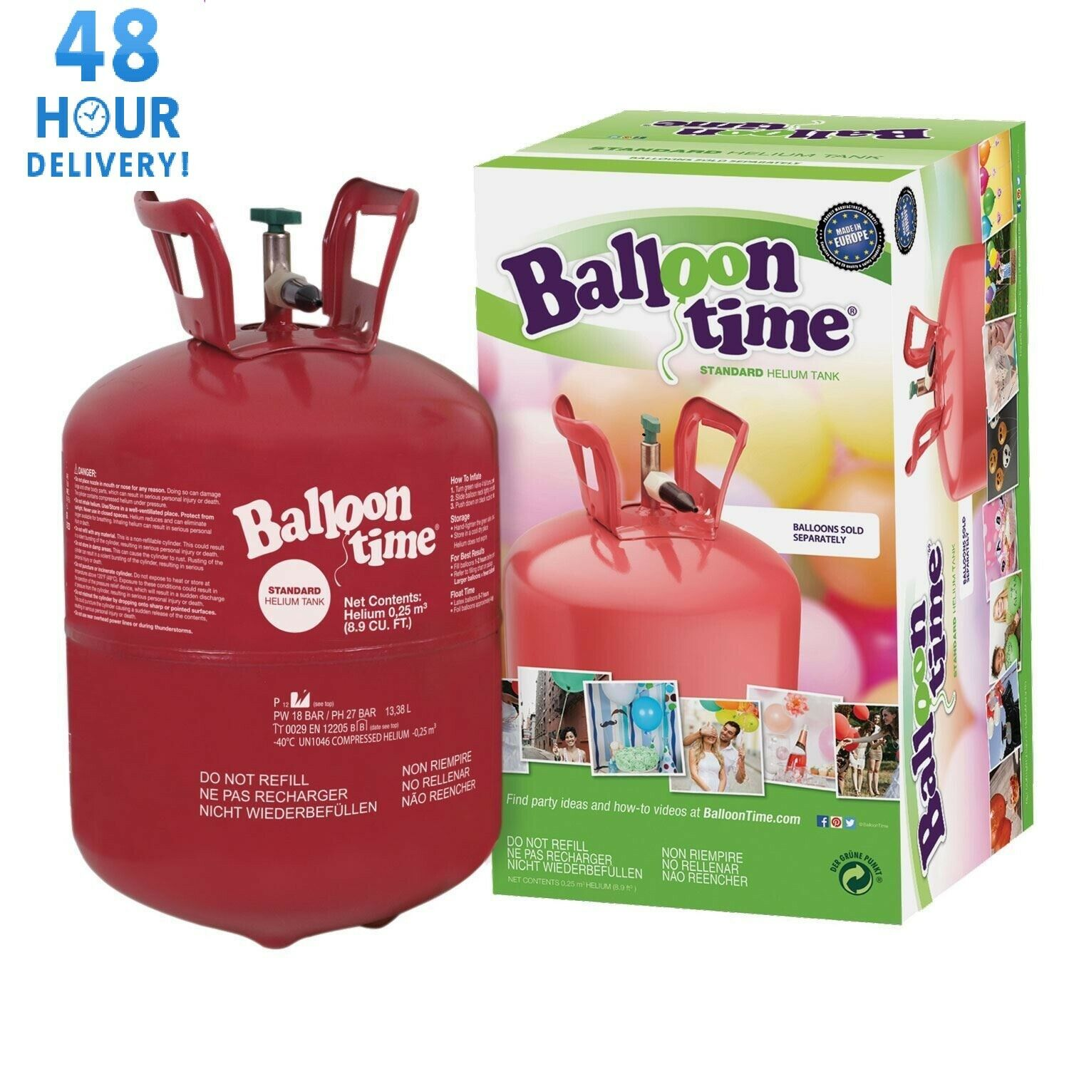 Helium Cylinder Balloon Gas Disposable Canister Birthday Party 30   150 Balloons