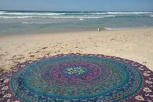 Mandala-Round-Indian-Hippie-Beach-Table-Cloth-Throw-Bohemian-Tapestry-Yoga-Mat