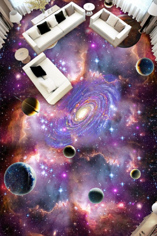 3D lila Star Planet 6 Floor WallPaper Murals Wall Wall Wall Print Decal AJ WALLPAPER US f55829