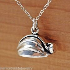 Miners Hard Hat Necklace - 925 Sterling Silver Miner Helmet Charm Construction