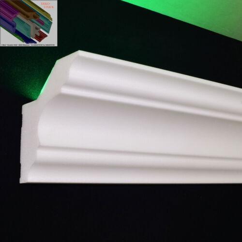 """Stuckleiste Stuckprofil LED Profil indirektes Licht 20 M+4 I-Ecken Dekor /""""Lea/"""""""