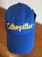 Caterpillar Cat Baseball Cap Blue Adjustable Cotton Blend