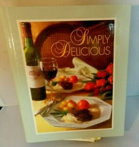 Vintage-SIMPLY-DELICIOUS-Cookbook-Recipes-Cook-Book-Binder-Style