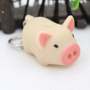 LED-Fashion-Pig-Keychain-with-Sound-Key-Holder-Mini-Torch-Flashlight-Kids-Toy