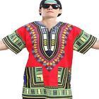 Dashiki African Festival Hippie Poncho Mexican Shirt Kaftan T-Shirt Womens Mens