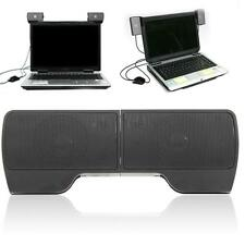 New USB Hanging External Computer Speakers Stereo for Laptop PC Notebook Desktop