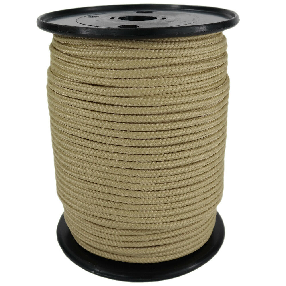 Polypropylene Rope PP 8mm 100m Natural Rope Colour (0144) Braided