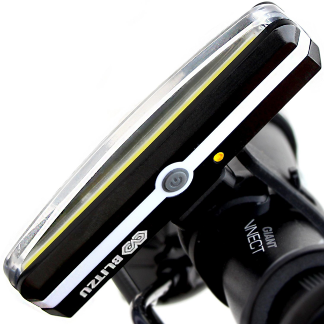Blitzu Cyborg 168H USB Rechargeable Headlight Super Bright Bike Light Helmet LED for sale online