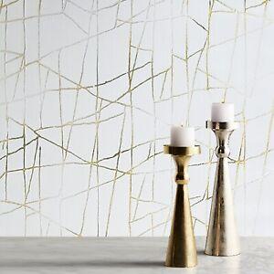 Modern-wallpaper-beige-cream-off-white-gold-metallic-Textured-abstract-lines-3D