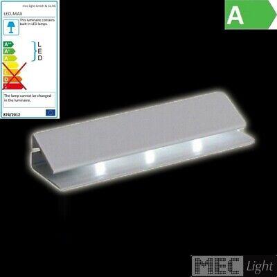 LED CLIP Glaskanten-Beleuchtung in warm-weiß 2m Anschlussleitung MINI-Stecker