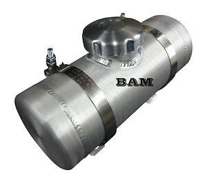 4x15 Center Fill Spun Aluminum Gas Tank 34 Gallon 14 Npt Offset
