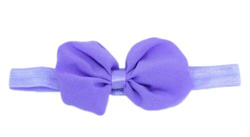"4/"" New Style Chiffon Boutique Puffy Hair Bows Baby Girls Bow Hair Headband"