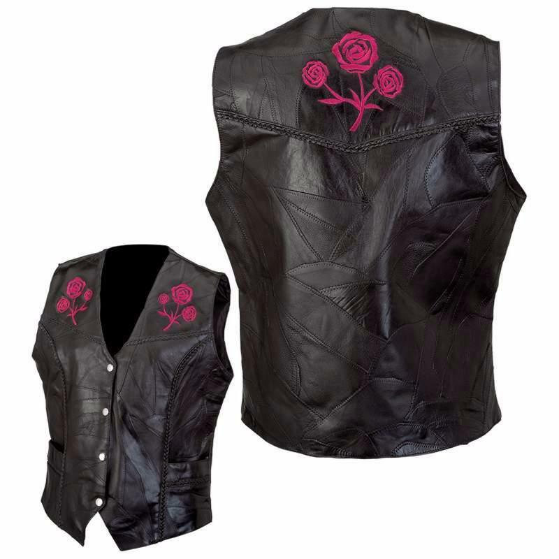 Gilet   Giacca pelle patchwork