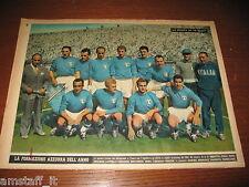 # POSTER FOTO ITALIA FORMAZIONE AZZURRA 1953 CM.35X26 BONIPERTI PIOLA AMEDEI