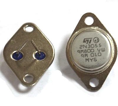 5 Pcs 2N3055 TO-3 NPN AF Amp Audio Puissance Transistor 15A/60V AK good quality