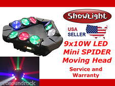 ShowLight RGBW LED 9x10W 4in1 MINI SPIDER Moving Head Stage Light (small form)