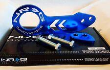 NRG Rear Tow Hook Kit Honda & Acura Universal JDM Style (BLUE w/ WHITE LOGO)