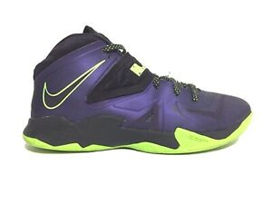 ab8b2125a8d Nike Zoom Lebron James Soldier VII 7 Sneakers Purple Lime 599264 500 ...