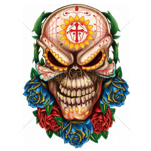 Felpa Nero Razor ROCKE Billy Tatuaggio /& gothikmotiv MODELLO SKULL ROSES