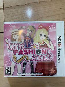 Girls' Fashion Shoot (Nintendo 3DS) Complete CIB Manual FAST SAME DAY SHIPPED