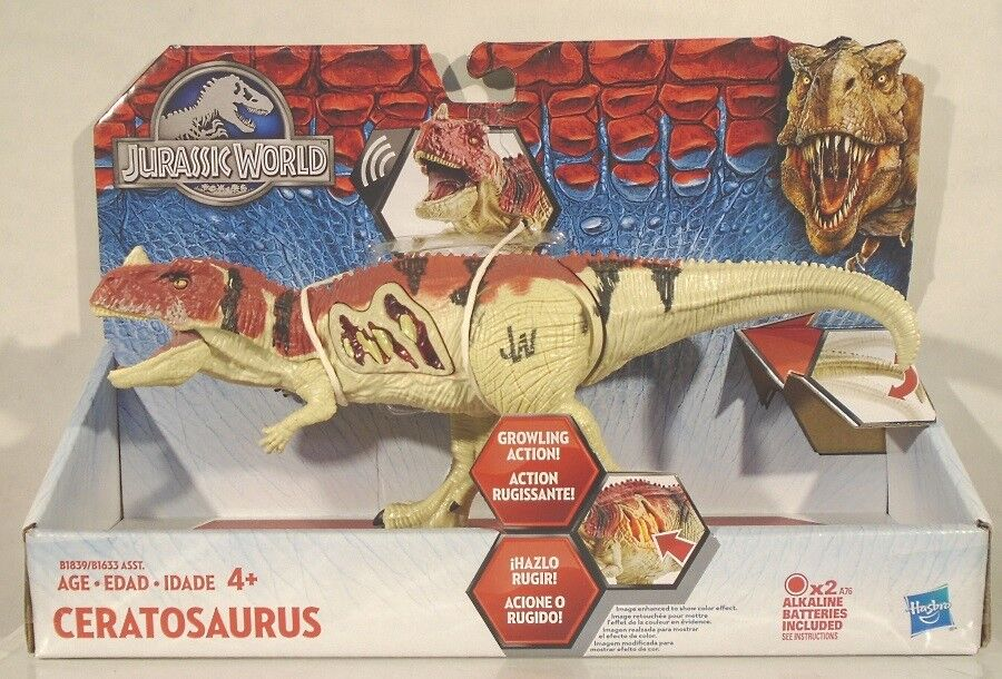 Jurassic World Ceratosaurus With Chomping Jaws And Growling Action (MISP) Park
