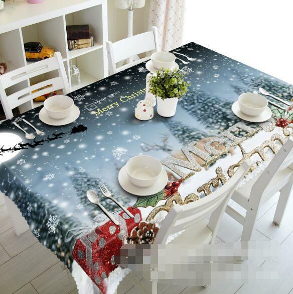 3D Snowflake 6 Tablecloth Table Cover Cloth Birthday Party Event AJ WALLPAPER AU