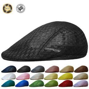 656558beede Duck Mesh Summer Gatsby Cap Mens Ivy Hat Golf Driving Sun Flat ...