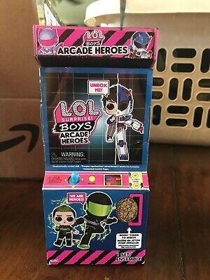 Unopened New LOL SURPRISE Boys ARCADE HEROES Fan Boy In Hand Atomic
