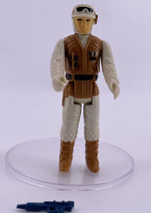 Vintage 1980 Kenner Star Wars Figures Near Complete ESB Luke Skywalker Hoth Gun