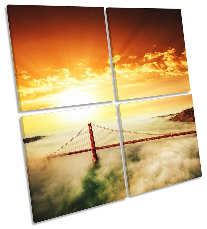 oroEN oroEN oroEN GATE BRIDGE art. a muro TRAMONTO SQUARE Stampa Multi 5f25f1