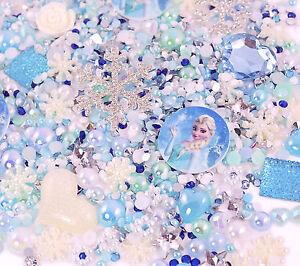 FROZEN-Tema-Destellos-Juego-De-Cabujones-Diamantes-De-Imitacion-Perla-BRICOLAJE