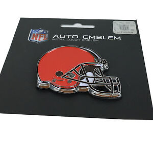New-NFL-Cleveland-Browns-Auto-Car-Truck-Heavy-Duty-Metal-Color-Emblem