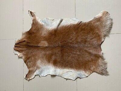Goat Hide Rug Brown Real Animal Fur Hide Rug Cute Rug Accent Rug