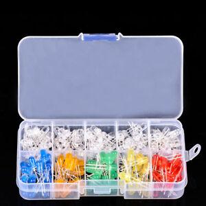 200pcs-10-value-Five-Colors-5mm-Round-Bright-Light-LED-Diode-Lamp-Assortment-kit