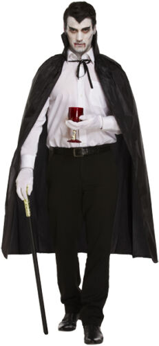 Unisex adulto Nero Mantello Dracula Costume Di Halloween Costume