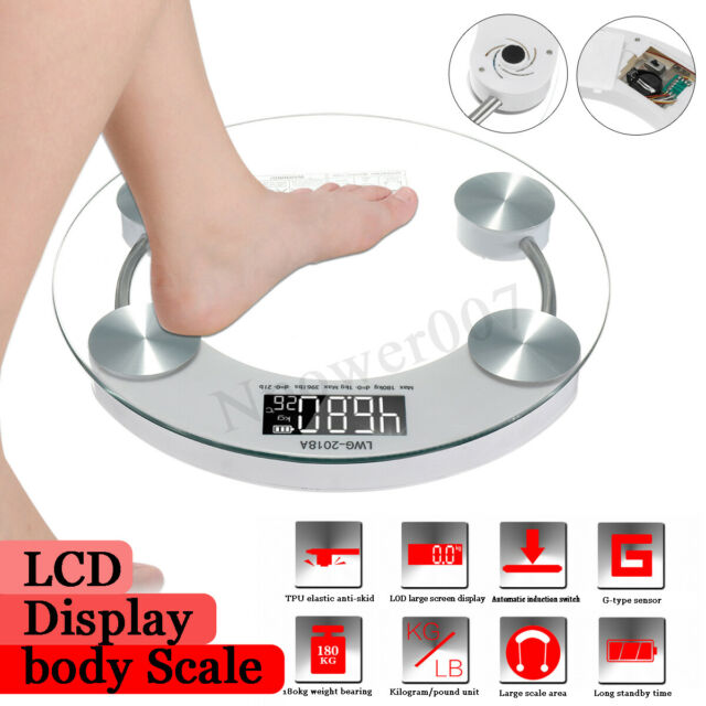 Digital Body Scale 180KG LCD Weight Scales Bathroom Gym Balance Electronic Scale