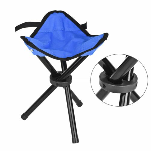 Portable Camping Hiking Fishing Triangle Folding Stool Blue Color Foldable Chair
