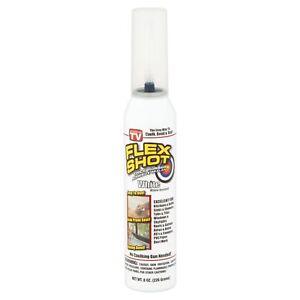 Flex Shot Clear Rubber Adhesive Silicone Sealant Seal Caulk Bond
