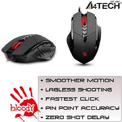A4tech Gaming Mouse Cablato Multi-core Gun3 V7m Led Ottico 3200dpi Computer Pc-