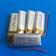 5 pcs 180mAh 3.7V Li Po Polymer ion 501235 Battery for MP3 GPS Headset Bluetooth