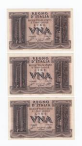 Mode 2019 Lotto X3 1/ Una Lira Impero Biglietto Di Stato Decr 1939 Fds (consecutive)