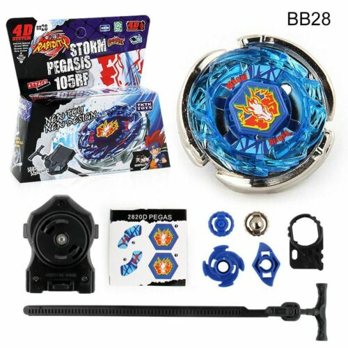 Metal Beyblade BB28 Storm Pegasus Battle Fusion Masters Gyro With Launcher Gift