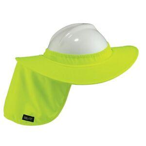 Green Full Brim Hard Hat Sun Shield with Neck Shade