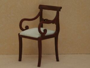 Dolls-House-Furniture-Carved-Chair-with-Round-Arms-Walnut-RO427