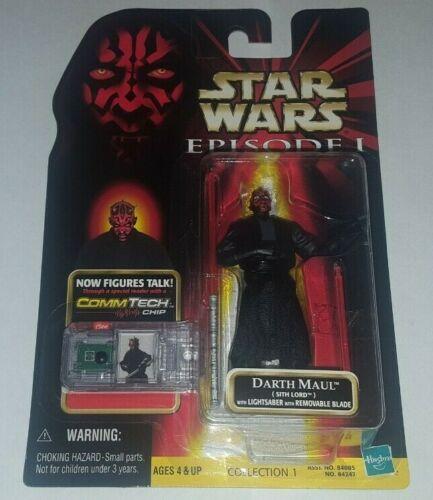 Commtech Chip En parfait état Star Wars Darth Maul Sith Lord Action Figure Episode 1 neuf dans sa boîte