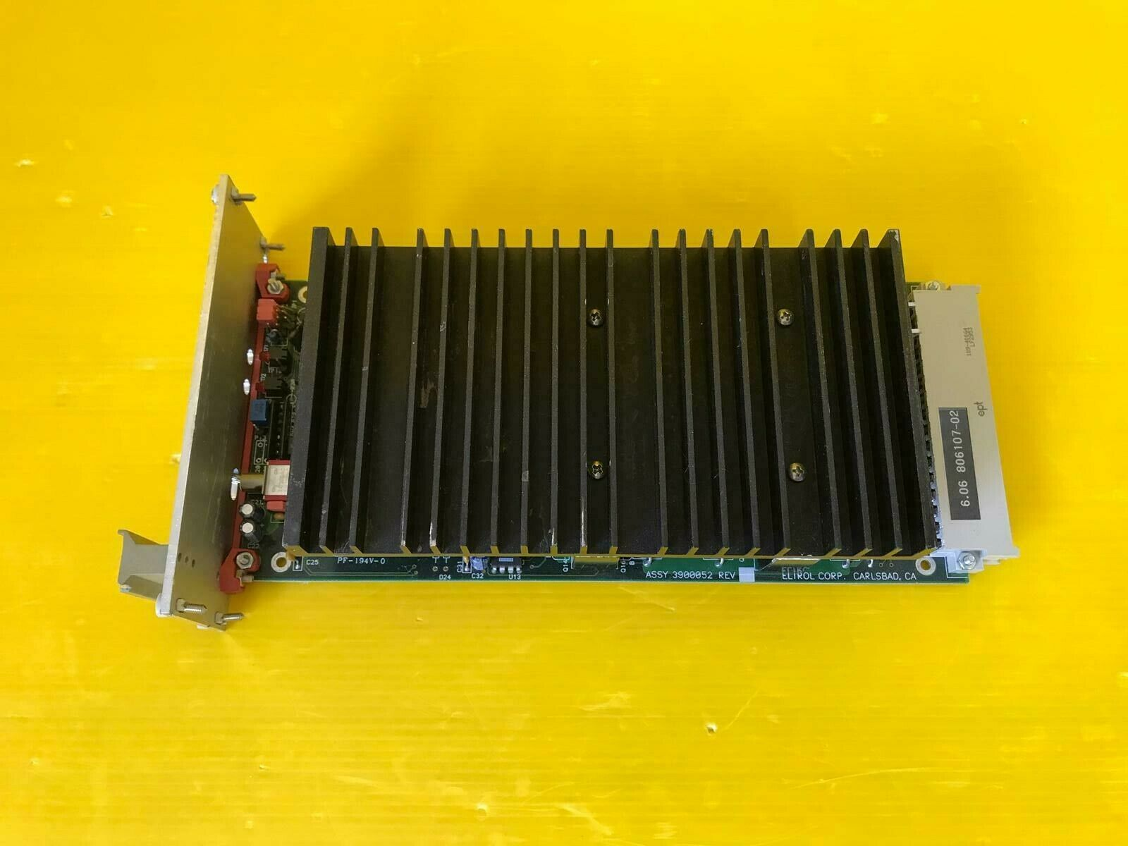 Eltrol amplifier PCB 806107-02 ASSY 3900052