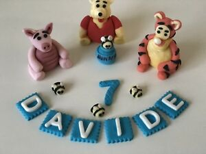 Image Is Loading Unofficial Winnie The Pooh Piglet Tigger Handmade Edible